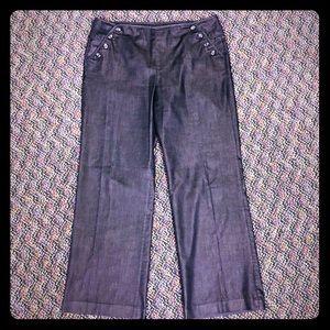 Willi Smith Sailor Style Dark Rinse Dress Jeans